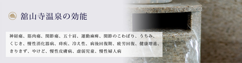 舘山寺温泉の効能